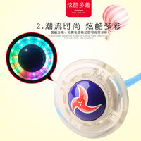 Foot ring bouncing ball croquet adult single foot luminous flash jumping rotating jump ring ring foot yo-yo set foot