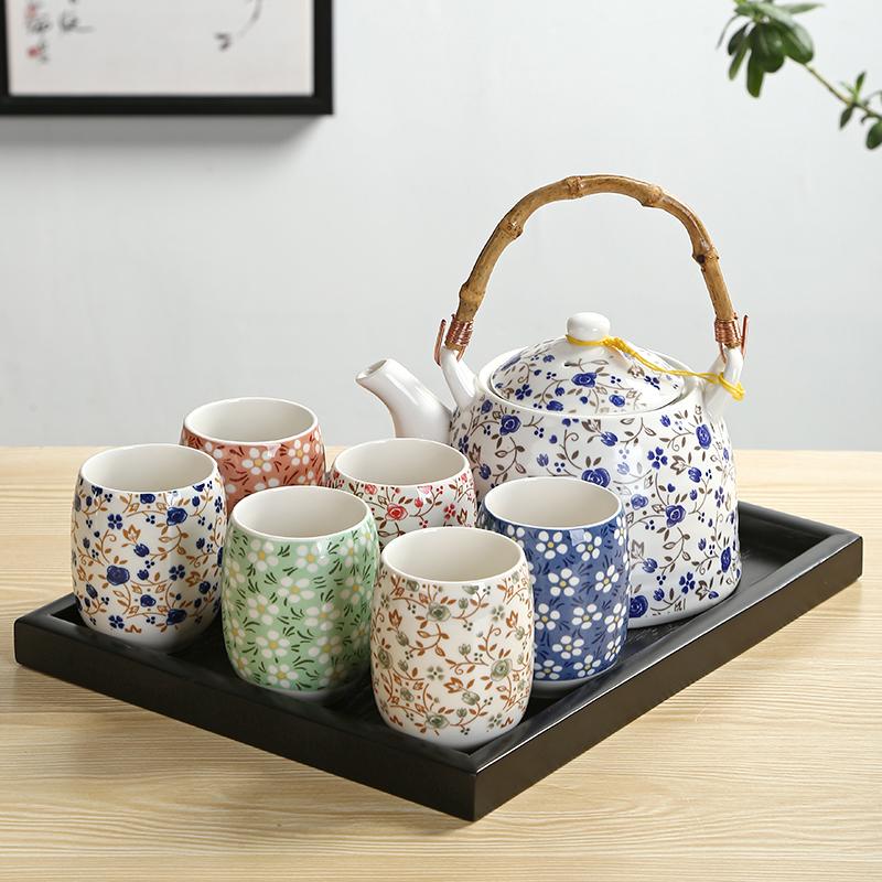 整套花草茶具