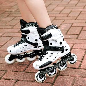 freesk溜冰鞋成人直排轮男女初学轮滑鞋成年专业旱冰平花闪光鞋
