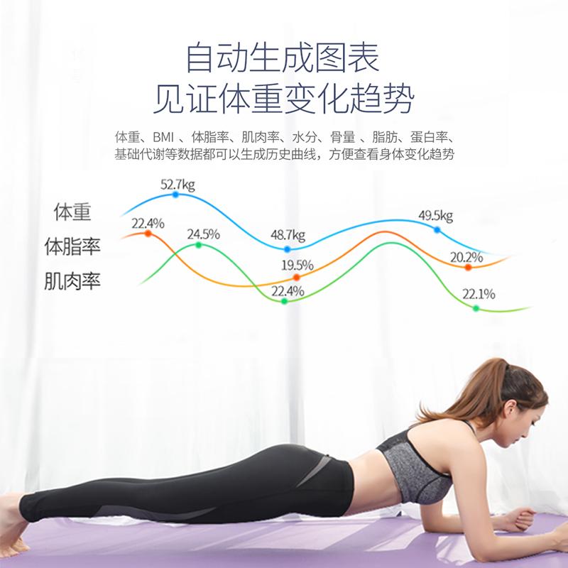 沃莱智能体脂秤家用瘦身迷你精准女人体减肥称重电子体重脂肪平衡