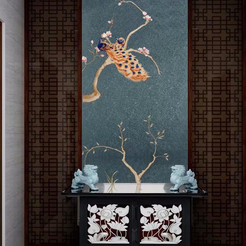 现代简约无纺布壁纸 立体3D菱形格子卧室客厅沙发电视背景墙墙纸