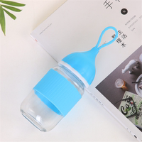 Creative cute glass small AI cup onion head student cup penguin cup portable rope gift hand cup