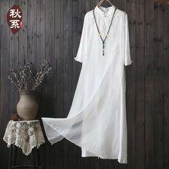 棉麻飄逸連衣裙