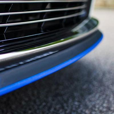 汽车前唇软防撞胶条运动大小包围改装橡胶前铲条碳纤维侧裙下唇边