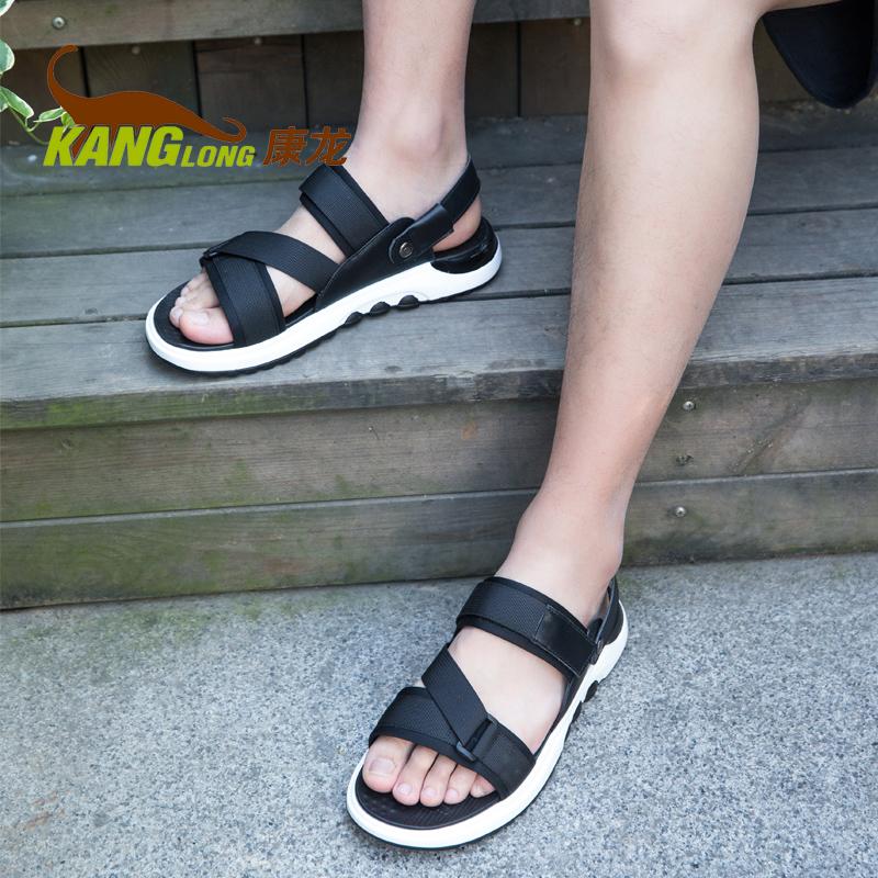 奥康康龙鞋旗舰店凉鞋夏季男鞋沙滩鞋子男士休闲韩版凉鞋
