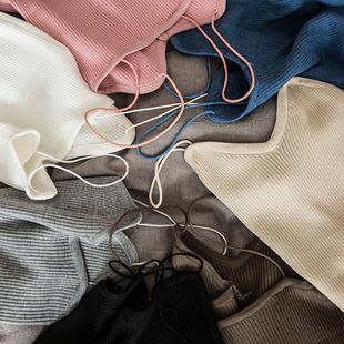 夏季针织吊带背心女内搭外穿性感美背无袖白色短款打底衫大码