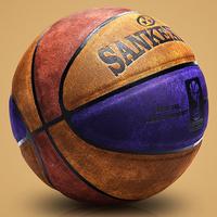 篮球正品真皮质感室外耐磨成人7号学生女子6号儿童5号水泥地蓝球