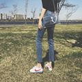 女式直筒加绒牛仔裤