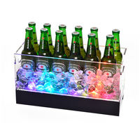 Glowing ice bucket plastic ice bucket acrylic champagne bucket light ktv ice bucket bar beer ice bucket large