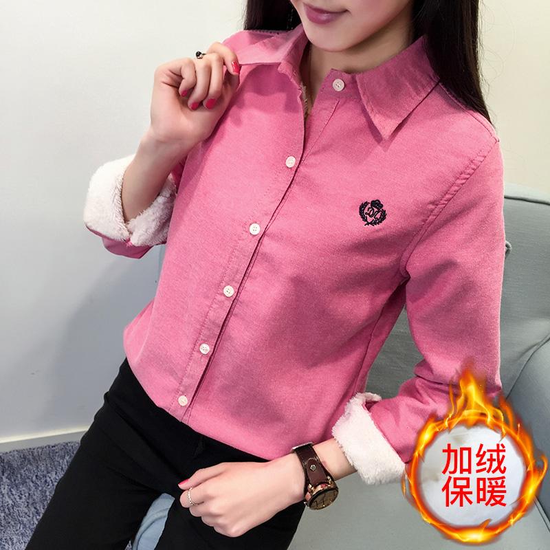 韩版衬衫女冬