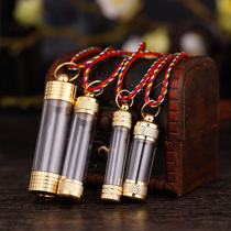 Transparent GA box Tube pendant nepal Sherita bottle can be fitted with mannose sherry cinnabar Pendant