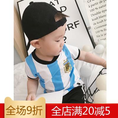 米粒家原创婴童夏装薄款世界杯足球服宝宝运动服球衣短袖T恤0-3岁