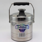 Timing non-magnetic stainless steel pot double grid rice with rice barrel thick double lunch box large capacity pot