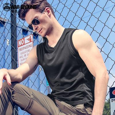 WG夏季男士薄款无袖t恤修身健身速干韩版宽松运动透气背心男潮牌