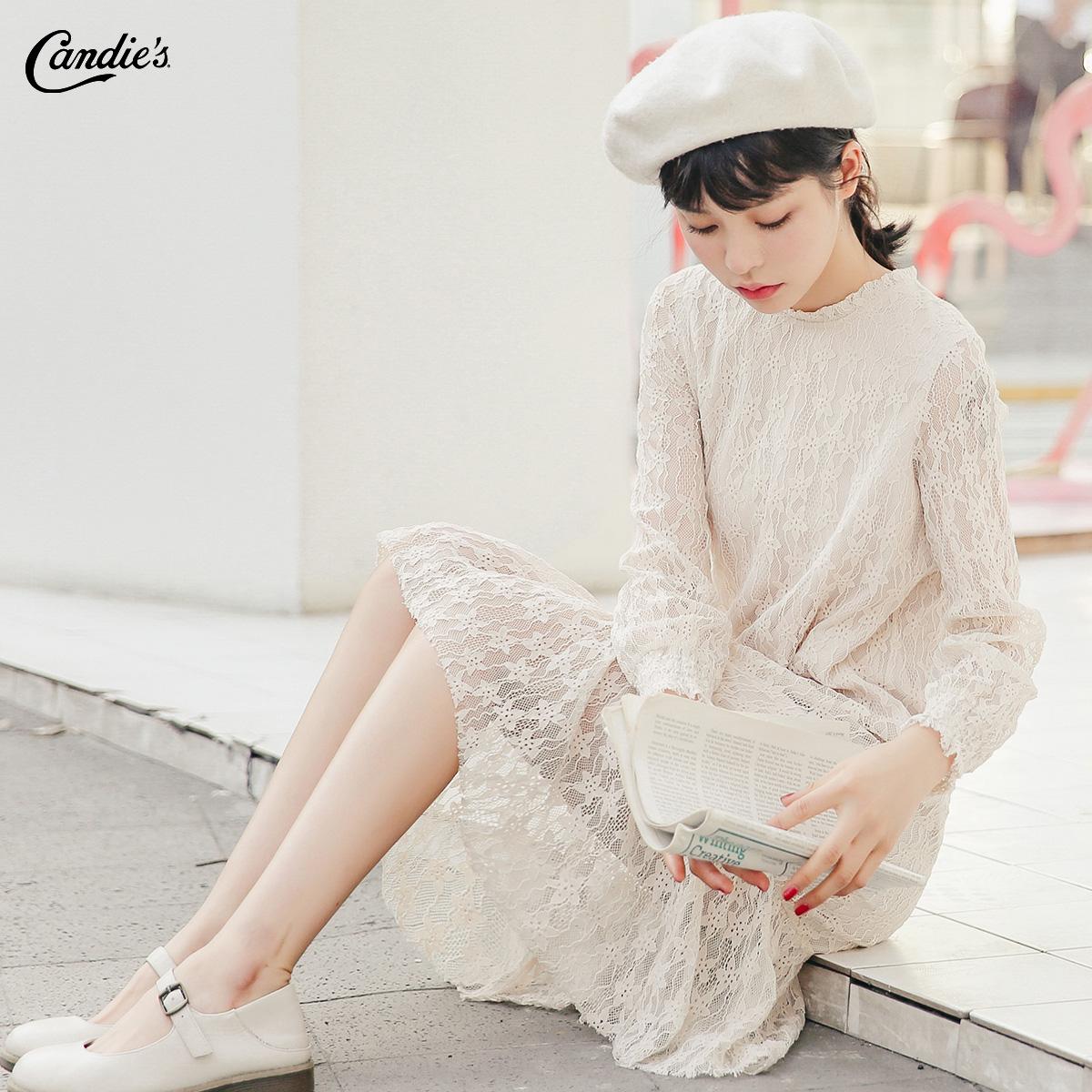 韩版蕾丝宽松连衣裙