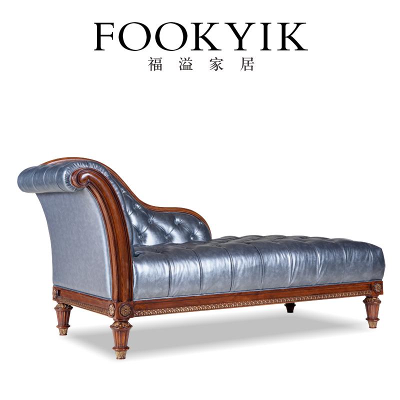 福溢家居 意大利风翡冷翠欧式贵妃榻美人躺椅发椅懒人欧式沙发椅