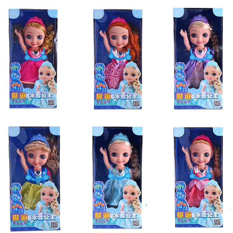 挺逗66033冰雪奇缘玩具洋娃娃智能讲故事触摸感应搪胶儿童玩具