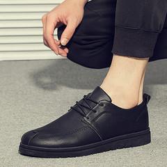 耐磨厚底皮鞋