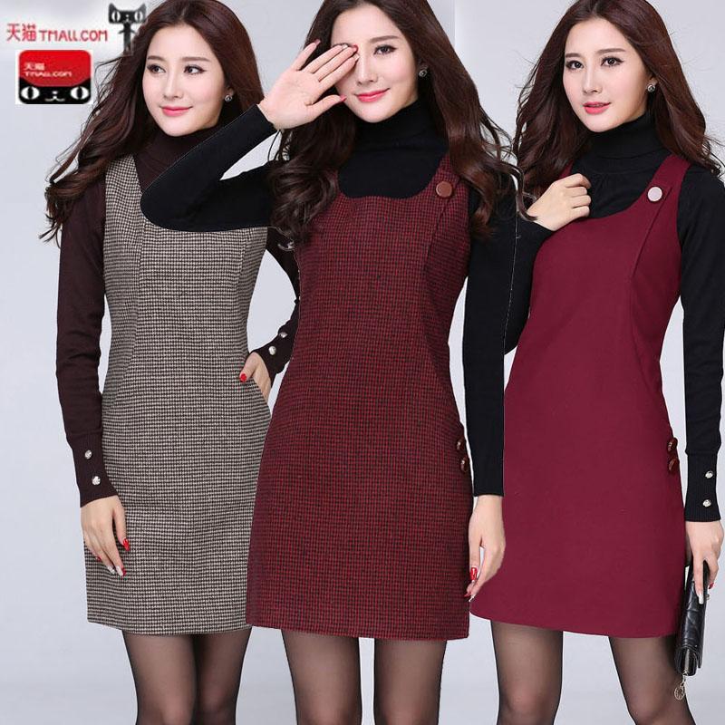 无袖显瘦冬季连衣裙