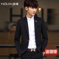男士西服 春秋季新款修身韩版纯色英伦休闲小西装男潮外套正装