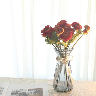 玻璃花瓶透明束腰款鲜花干花插花水培花瓶欧式居家客厅装饰摆件