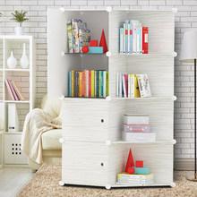 书柜拼装自由组合简易书架学生寝室落地教室可拆卸diy组装经济型