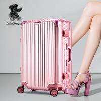 法国lulu熊铝框拉杆箱万向轮20/24皮箱子托运旅行箱行李箱包26寸