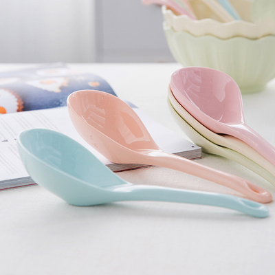 创意彩色家用简约日式韩式长柄陶瓷勺大汤匙调羹汤勺拉面勺子餐具