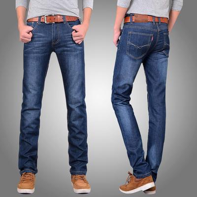 夏季新款男士修身牛仔裤男直筒宽松大码青年长裤子男韩版潮流薄款
