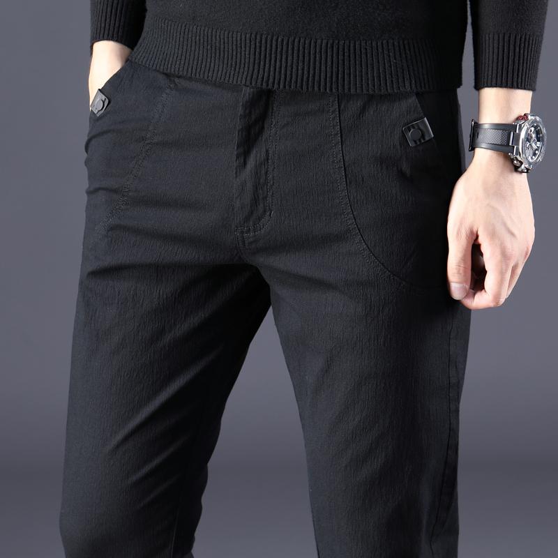 黑蓝色裤子男