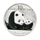 天天天2011 Panda Silver Coin 1 oz Silver Cat Green Box 999 Full Silver Commemorative Coin F