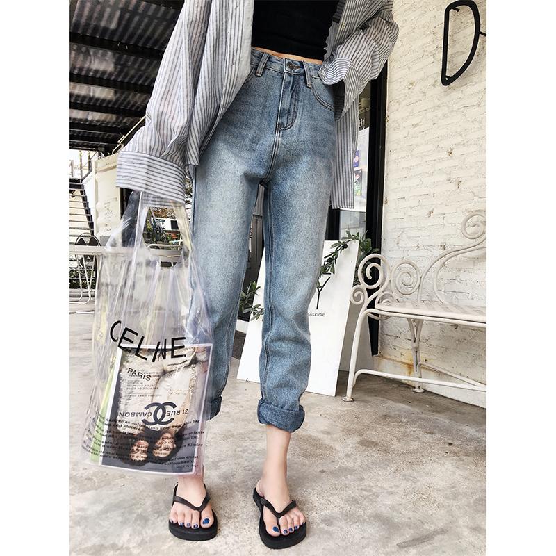 女款牛仔裤长裤直筒