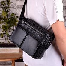 Men's Leather Single Shoulder Bag Men's Slant Backpack Recreational Small Backpack Chao Hengyuan Business Head Cotton Leather Soft Leather Bag