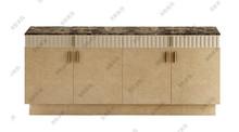 定制后现代实木大理石餐边柜新古典简约装饰柜现代中式展示柜边柜