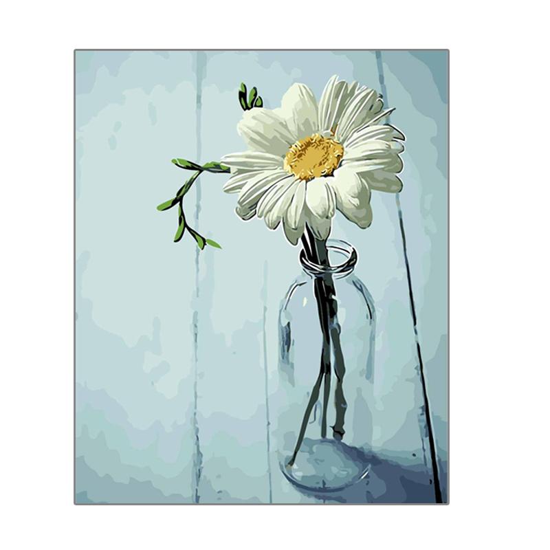 数字油画diy 动漫手工填色油彩画风景自绘花卉客厅装饰填充涂色画