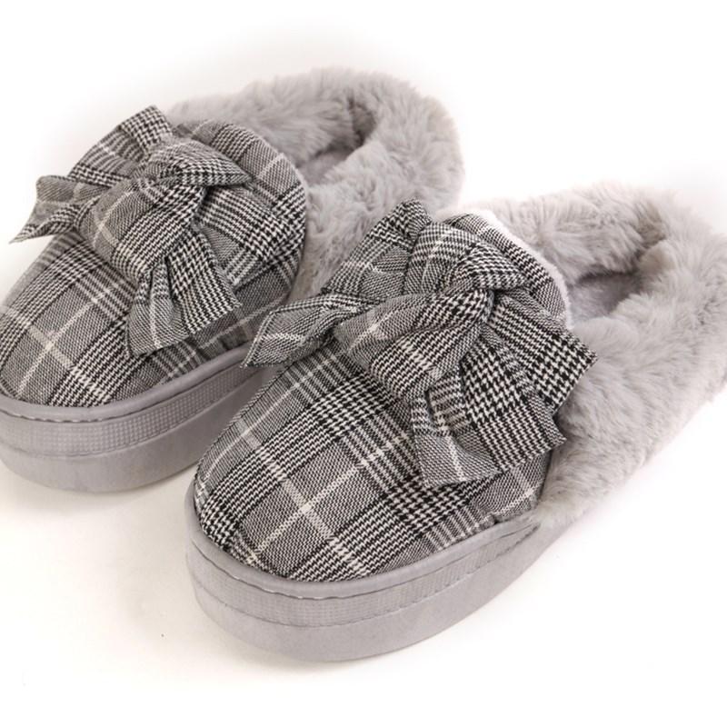 高跟创意棉拖鞋女手工半包跟厚底松糕棉鞋保暖跟高防水台软底防潮