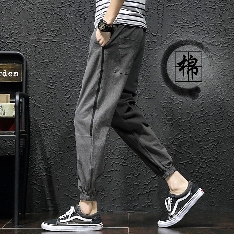 黑色工长裤