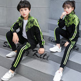 Children Lang fashion class clothes third grade boys and girls primary school students sportswear two-piece set of Guangdong school uniform tide