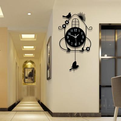 时尚简约田园挂钟欧式客厅钟表现代创意装饰时钟静音卧室挂表夜光领取优惠券