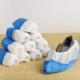 Bottom non-slip disposable thickening non-woven shoe cover CPE film waterproof blue indoor dustproof and breathable home