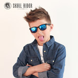 Spain skullrider children's sunglasses princess UV polarized baby sunglasses 19 new tide male