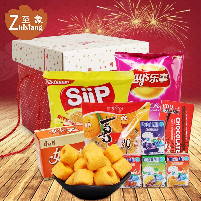 年货零食大礼盒一整箱小吃休闲食品吃货组合礼盒装大礼包