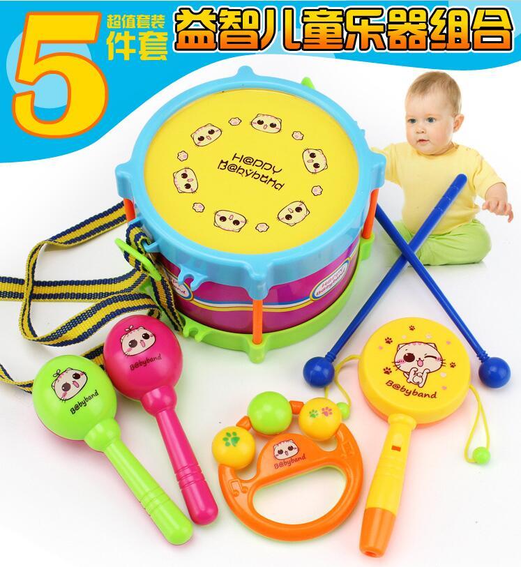 儿童玩具鼔敲打鼔打击乐器音乐启蒙玩具手敲拍拍鼓亲子幼儿园教具