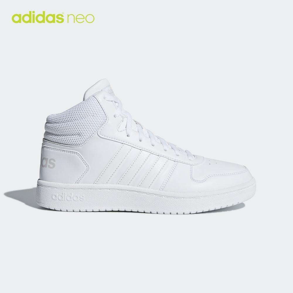 阿迪达斯官网Adidas neo女鞋2020春季新款高帮运动鞋休闲白色板鞋