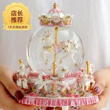 Christmas Crystal Ball Carousel Music Box Eight Sound Box Gives Girlfriends And Kids Valentine's Day Birthday Gift