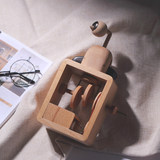 Can't guess the wooden creative fun music box birthday gift to the couple bird eight-tone box gift