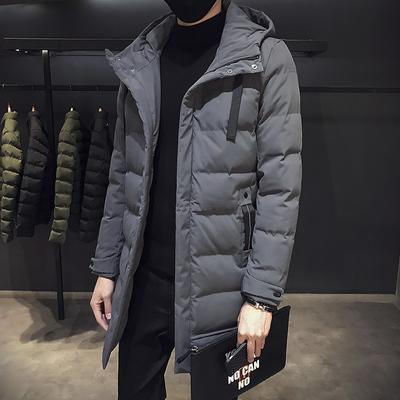 棉衣男士冬季新款休闲羽绒棉袄青少年中长款冬装潮流学生加厚外套
