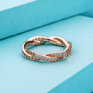 pandora/潘多拉玫瑰金色命运之轮戒指食指戒经典复古女戒180892CZ