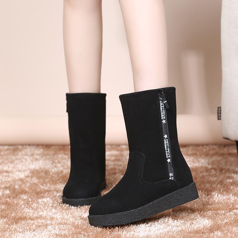 休闲厚底雪地靴