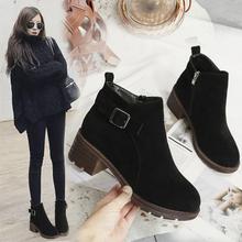 2019春季新款大东女靴原宿马丁靴女英伦学院风短靴女粗跟女单鞋子